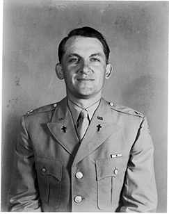 Chaplain Dwayne H. Mengel during WWII.